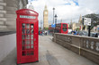 London street, Phone boot and Big Ben