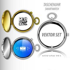 Retro Smartwatch Vektor Set