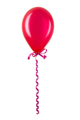Inflatable red balloon isolated on white background