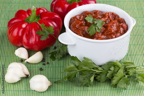 adjika fresh red pepper
