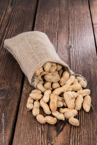 Peanuts in a small Sack