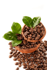 Ceramic bowl with coffee beans