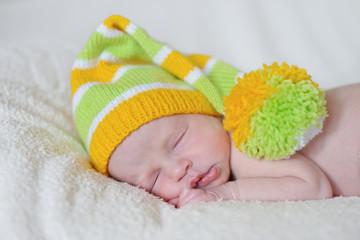 dreaming newborn