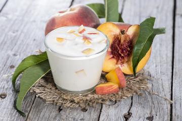 Fresh made Peach Yogurt
