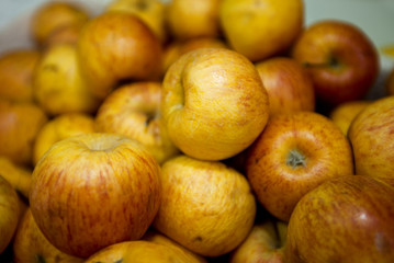 Close-up of apples in grocery store