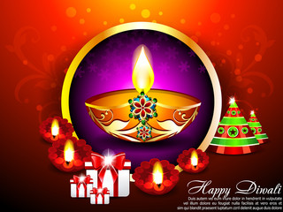 Diwali Background with gifts