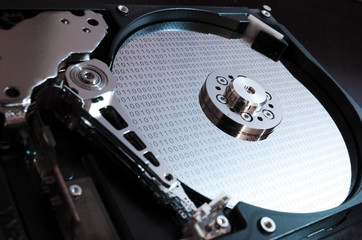 Binary data on hard drive