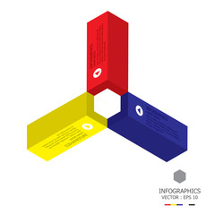 Modern Cube Infographics Design Template