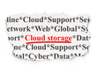 Cloud networking concept: Cloud Storage on Paper background