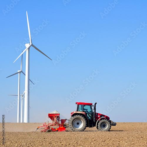 canvas print picture Landwirtschaft und Industrie / Windräder