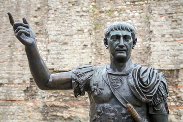 Statue of Trajan. London, UK