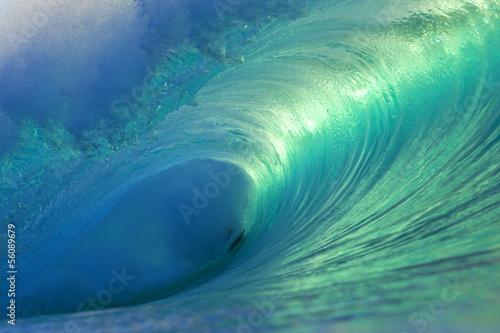 Deurstickers Water Hawaii Pipeline Empty Wave 4