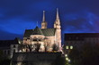 Basel Cathedral at night, Switzerland