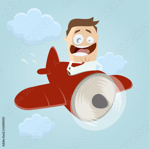 flugzeug cartoon business