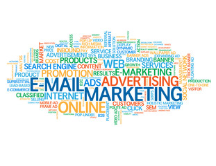 """E-MAIL MARKETING"" Tag Cloud (online viral advertising internet)"