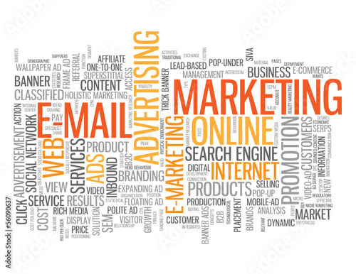 """E-MAIL MARKETING"" Tag Cloud (online viral internet advertising)"