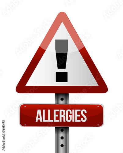 allergies road sign illustration design