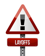 layoffs road sign illustration design