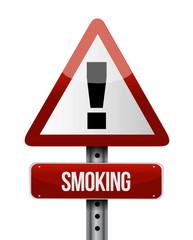 smoking road sign illustration design