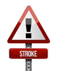 stroke road sign illustration design