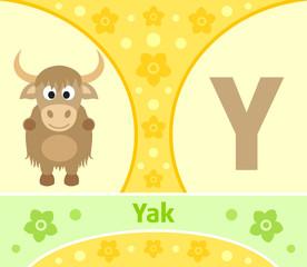 The English alphabet with Yak