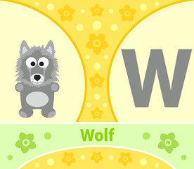 The English alphabet with Wolf