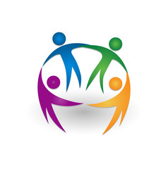 People together teamwork logo