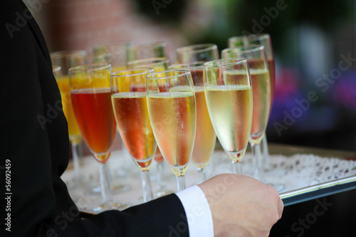 Colorful reception glasses