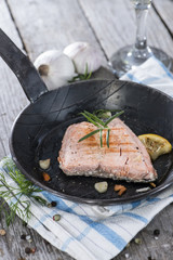 Fresh made Salmon Steak