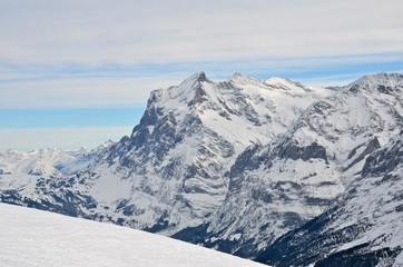 Jungfrau Massif in Bernese Alps, Switzerland