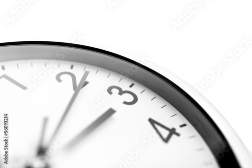 Clock face closeup