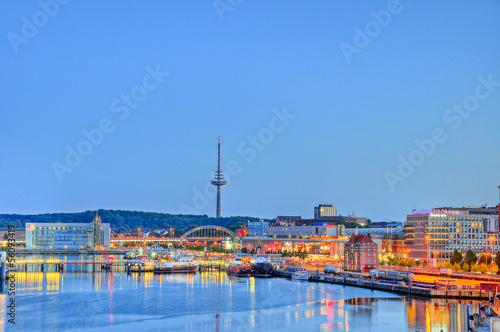 Leinwanddruck Bild Kieler Hafen