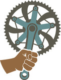 We got the power badge with bike chainring and fist