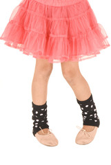 Young ballerina photo from the waist down wearing a pink tutu