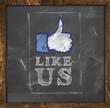 Like Us on Blackboard