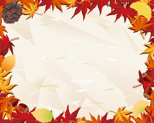 Autumn leaf & old paper