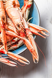 Closeup of cooked scampi pincers poster