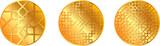 gold pattern medal