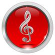 Button mit Notenschlüssel