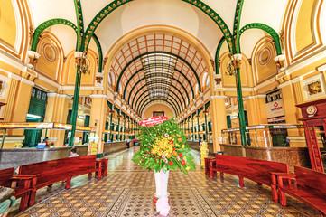 Saigon Central Post Office in Ho Chi Mihn City, Vietnam