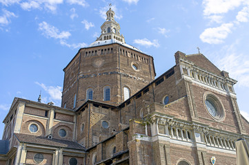Santo Stefano church Pavia Italy color image