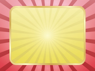 abstract rays background with frame