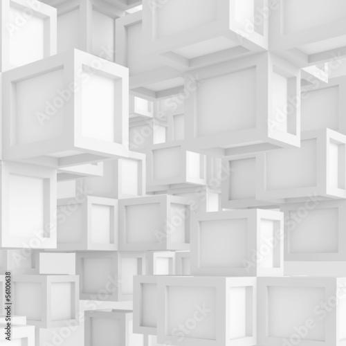 Plakat White Technology Background