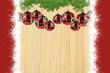 Weihnacht mit rot weißem Rand