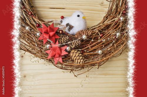 Weihnachtsdeko mit Vogel