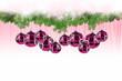 Pinkrosa Weihnachtsdeko