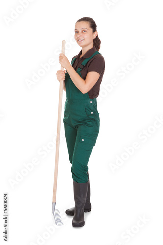 Female Gardner With Gardening Tools