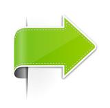 Pfeil Sticker grün