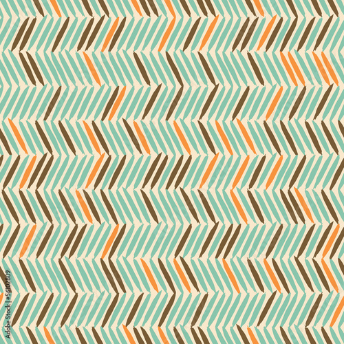 Deurstickers ZigZag Seamless Chevron Background