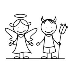Angel and devil I.